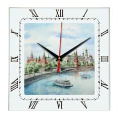 Квадратные настенные часы Москва. Кремль