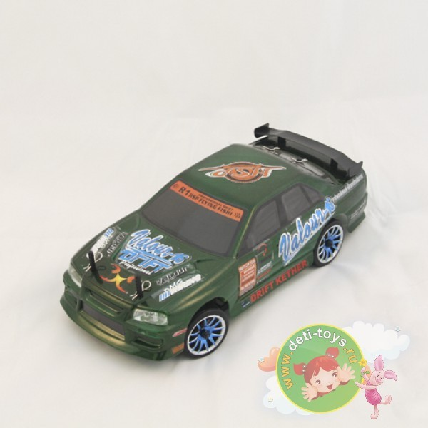 Радиоуправляемый автомобиль для дрифта Nissan Skyline Green