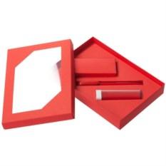 Набор Energy: аккумулятор и ручка (цвет — красный)