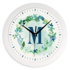 Настенные часы с вашей монограммой Flowers
