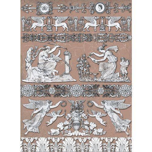 Рисовая бумага для декупажа Ампир, 28,2 см х 38,4 см