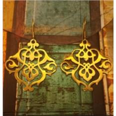 Серьги Сокровища Персии, позолоченное серебро