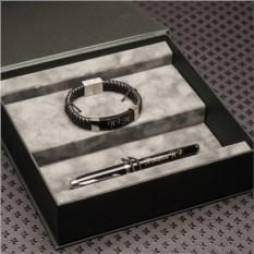 Подарочный набор ручка Parker и кожаный браслет Millenium