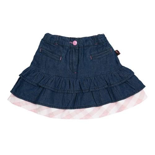 Тонкая джинсовая юбка