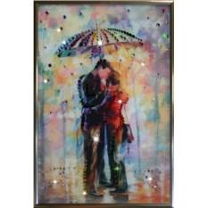 Картина с кристаллами Под зонтом