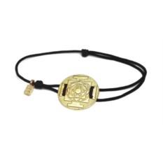 Веревочный браслет Янтра Лакшми (золото, 585 проба)