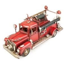 Ретро-модель Красная пожарная машина с рамкой и копилкой