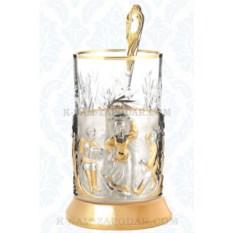 Подарочный набор для чая Русские пляски (позолота)