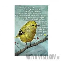 Обложка для паспорта Птица