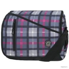 Черно-фиолетовая в клетку сумка Polar School