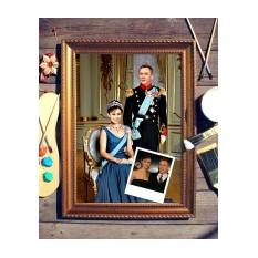 Парный портрет по фото Принц и принцесса