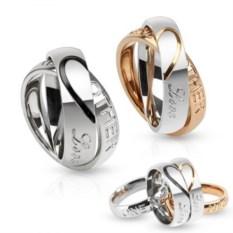 Кулоны для влюбленных золотого и серебряного цвета