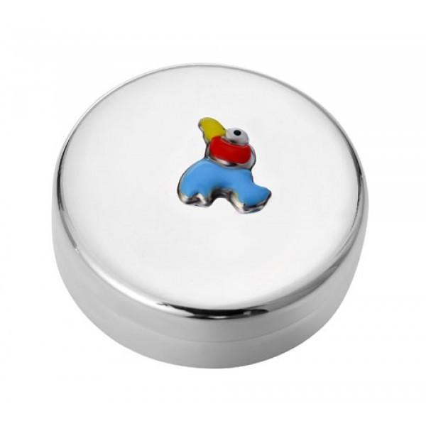 Серебряная детская шкатулка на 1-й зуб (птичка)