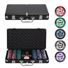 Покерный набор в металлический кейсе на 300 фишек