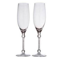 Два бокала для шампанского с кристаллами Miracle