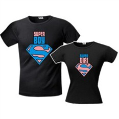 Футболки парные Super boy/Super girl