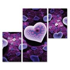 Модульная картина Фиолетовое сердце