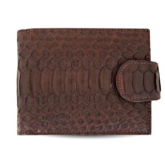Коричневый кошелек с отделениями для документов из питона