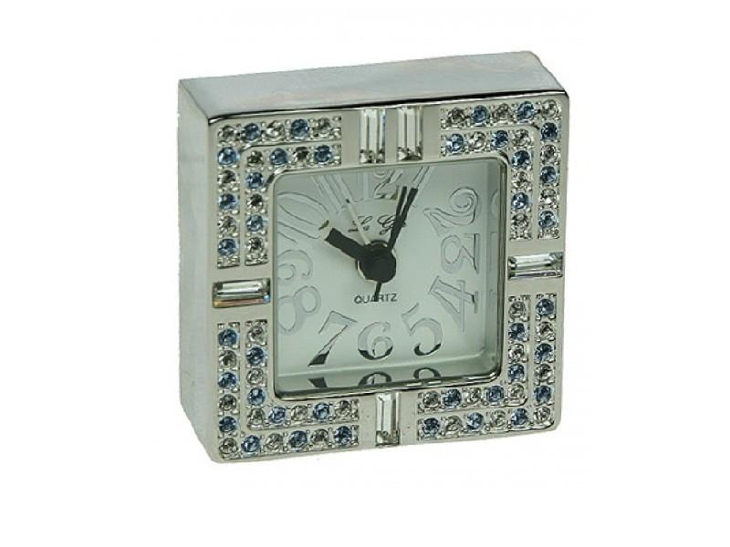Квадратные настольные часы со стразами