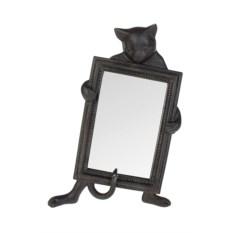 Настольное зеркало Любопытный котик