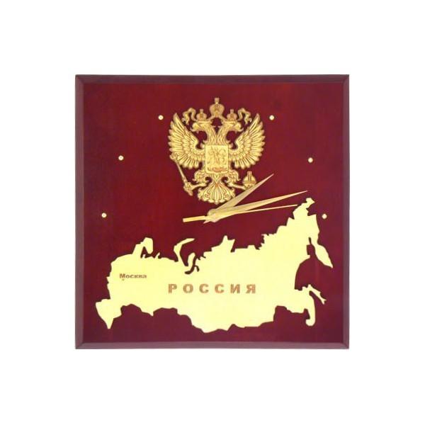 Настенные часы Карта России с гербом