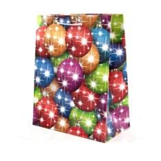 Разноцветный бумажно-ламинированный пакет Новогодний