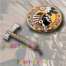 Игровой набор индейца: томогавк и щит