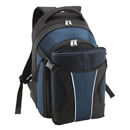 Набор для пикника в рюкзаке (синий)