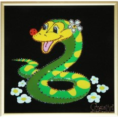 Картина с кристаллами Swarovski Змейка