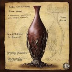 Напольная ваза с ковкой 1