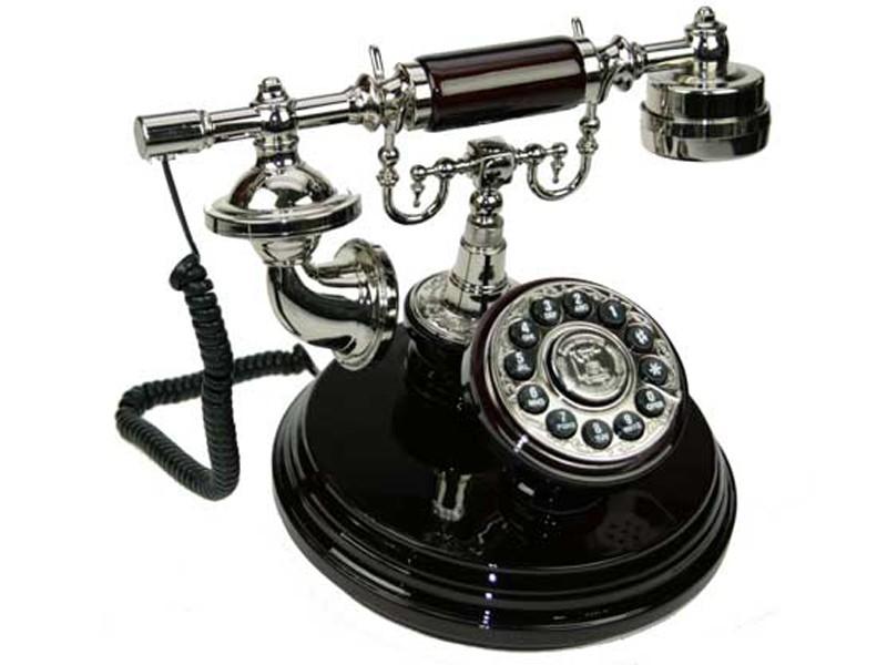 Черный телефон Ретро