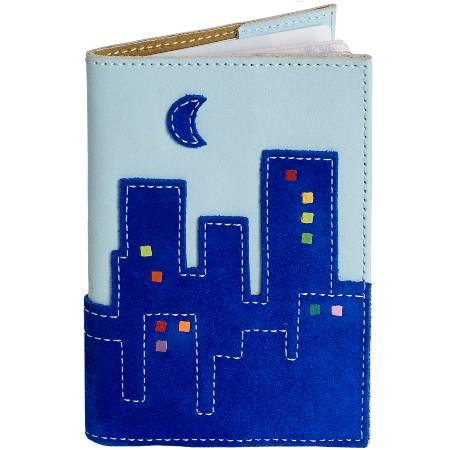 Обложка на паспорт Город в голубом