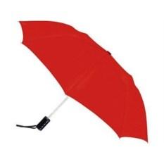 Cкладной полуавтоматический зонт красного цвета