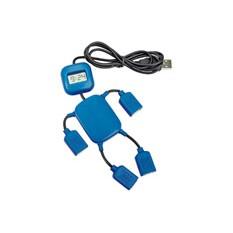 USB Hub на 4 порта с часами в виде человечка, синий
