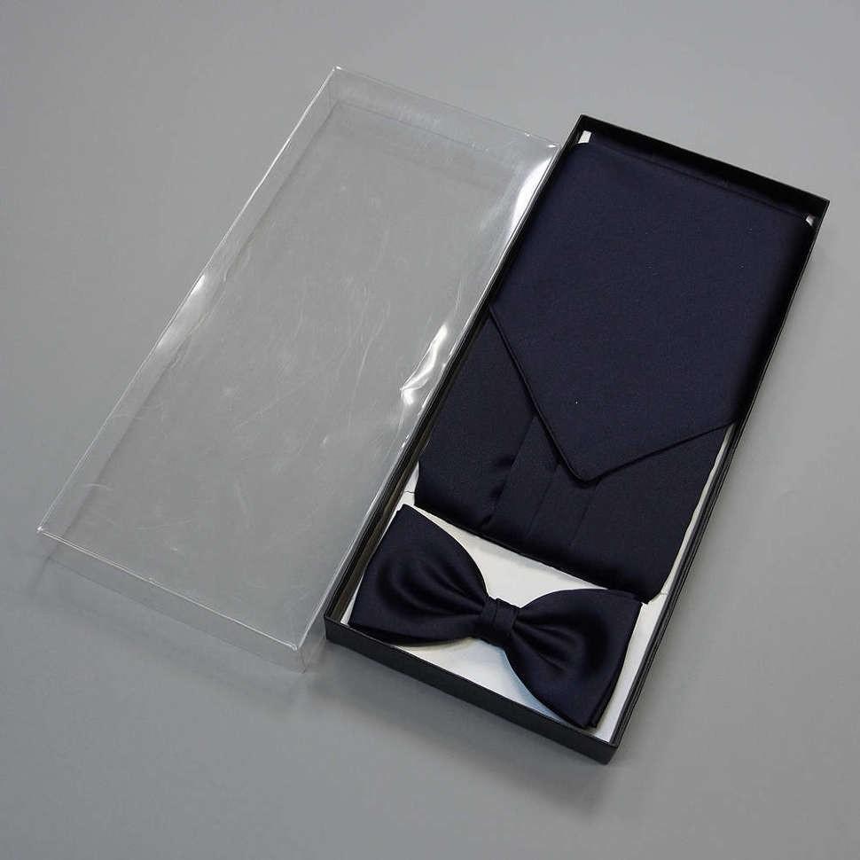 Однотонный темно-синий набор для смокинга