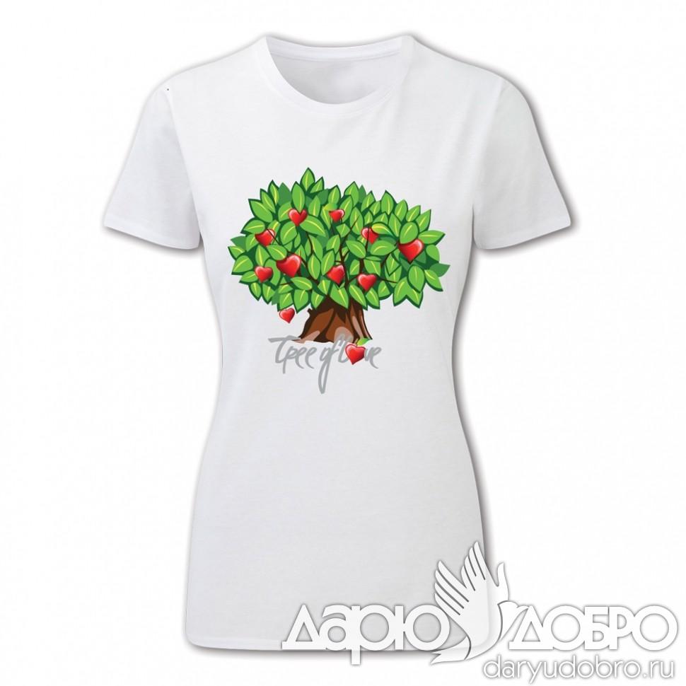 Женская футболка Дерево Любви от iCalistini