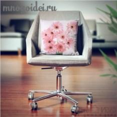 Декоративная наволочка Букет розовых гербер