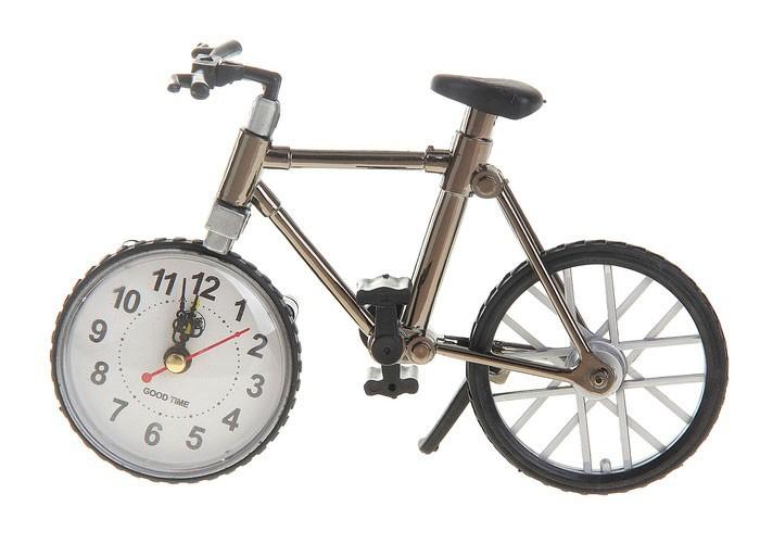Часы настольные с будильником Велосипед