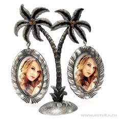 Рамка для фотографий в виде пальмы на 2 фото