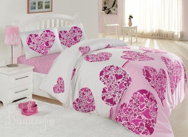 Постельное белье Элегант Candy розовое 160х220 1,5-сп