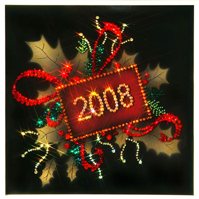 Хрустальная  картина «Новогодняя открытка»