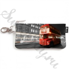 Ключница из натуральной кожи London Bus