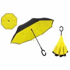 Зонт-наоборот солнечного цвета