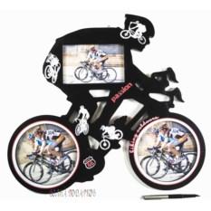 Фоторамка-коллаж на 3 фото Велогонщик