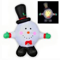 Надувная фигура Снеговик-колобок