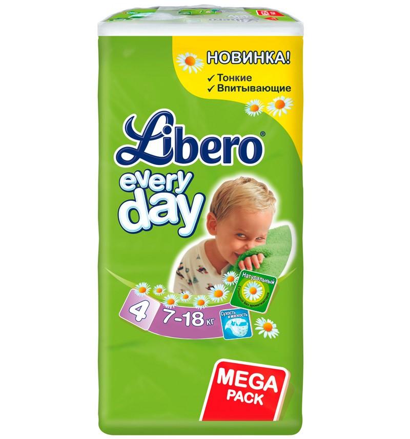 Подгузники Libero Every Day Maxi (7-18 кг) 66 шт.