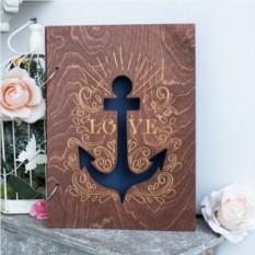 Деревянная книга пожеланий Морская