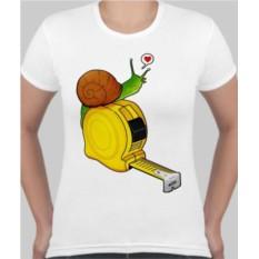 Женская футболка Улитка на рулетке
