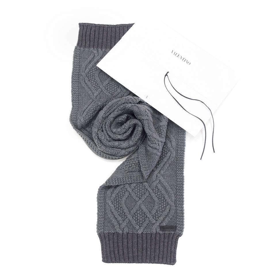 Теплый шерстяной шарф Valentino