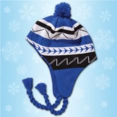 Синяя зимняя шапочка